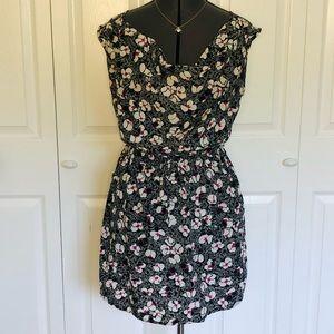 SALE! 2 for $25 Floral Dress Pockets Back Cutout